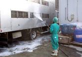 トラックの洗浄